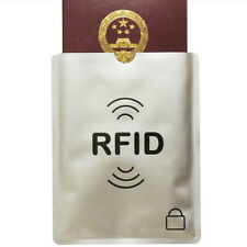 5X RFID Secure Sleeve Credit Card Holder Blocking Protector Case Shield Envelope