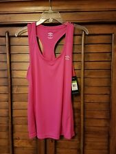 NWT Umbro Motion Control Women Workout Fitness Athletic T Back Active Tank Sz L