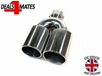 Racing Stainless Steel Universal Exhaust Tailpipe Tip Twin Muffler Pipe