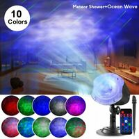 LED Galaxy Projector Starry Moving Meteor Night Light Star Projection Sky Lamp