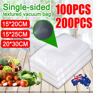 100/200X Vacuum Sealer Bags Food Storage Saver Heat Seal Cryovac 15*20/25/20*30