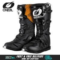 ONeal Motocross Boots MX Rider Off Road Dirt Bike Enduro Boots Black Quad Boots