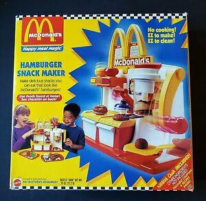 McDonald's Happy Meal Magic Hamburger Snack Maker - Sizzles - Mattel 1993 - VGC
