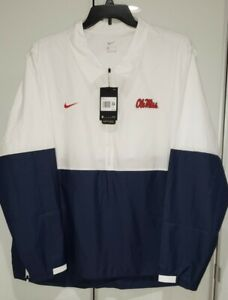 Nike Ole Miss Rebels Official On Field 1/4 Zip Jacket CQ5113-100 Mens Size 3XL
