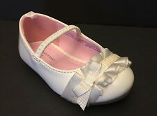 Healthtex Patent Leather Infant Toddler 4 Girl's Casual Bow Ballet Flat Shoes