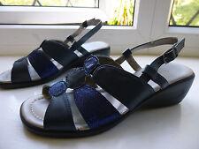 Ladies LOTUS navy blue wedge heeled shoes size 3 (Euro 35.5)