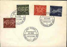 1960 Bund Erstausgabe Olympisches Jahr 4 Werte auf Brief Sonderstempel von Bonn