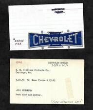 1938 Chevrolet Emblem Aluminum Name Plateangell Mfg Archive