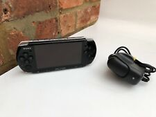 BLACK SONY PSP SLIM 3003 3000 CONSOLE & UNOFFICIAL AC ADAPTOR TESTED WORKING #10