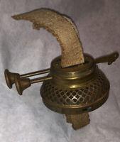 Rare Geo E Crawley Boston Ma Oil Lamp Burner W Wick Duplex Nice!