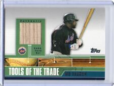 MO VAUGHN Mets 2002 Topps Traded & Rookies Tools Of The Trade Game-Used Bat Card