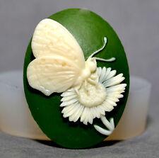 Mariposa Cameo Molde De Silicona Cupcake Arcilla Polimérica Chocolate Resina Fimo Molde