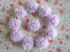 10 x Resin Rose Flower Embellishment, Crafts, Decoden,Cabochon 20mm *UK Seller*