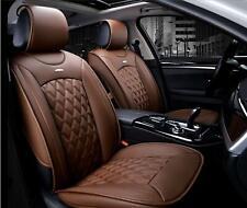 2x Braune Comfort Autositzauflagen Anteriore Schonauflagen Finta Elegante Nuovo