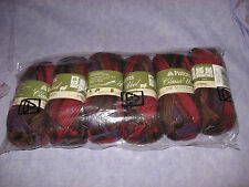 6 skeins Patons Classic Wool DK Super Wash Autumn Spice 100% New Wool SOFT YARN