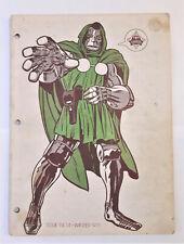 Foom Magazine #4 - Marvel Comics 1973 Dr. Doom