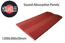 2x SAP2R_1200 Light Red Sound Absorption Panels 1200x300x50mm Acoustic Foam