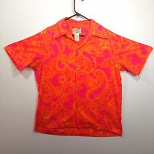 Genuine Hawaiian Aloha Shirt - Hawaii Nei - L - True vintage Neon Loop Collar