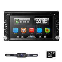 """GPS Navigation with Map Bluetooth Radio Double Din 6.2"""" Car Stereo DVD Player"""