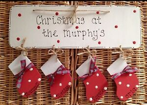 Christmas at the.. family christmas plaque, Christmas sign, personalised sign,