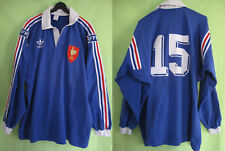 Maillot Rugby Adidas Equipe Quinze France Manche Longue vintage 80'S Coton - XL
