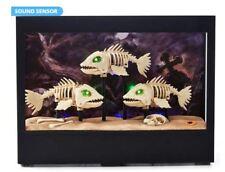 ANIMATED HAUNTED AQUARIUM + SKELETON FISH HALLOWEEN PROP DISPLAY - FISH TANK