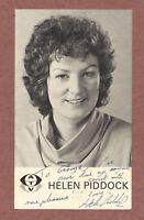 Helen Piddock, ATV Presenter 1970s, Signed card,  George Raymond, corset   RK544