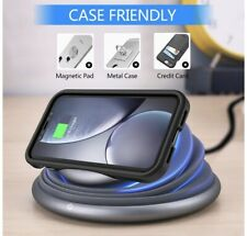 Qi Wireless Charger Night Light LED 10W Fast Charging for iPhone