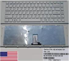 Teclado Qwerty US SONY VAIO VPC - EG. 148970211 9Z.N7ASW.101 Blanco/Marco blanco