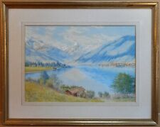 Zell am See, Austria. Original Watercolour by F. Wilton dated 1905