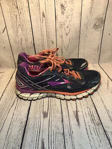 Brooks Adrenaline Women GTS 15 Size 9 Running Shoes Purple Blue Orange