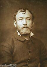 PHOTO ANCIENNE SALON 1883 PEINTRE Emile BOUTIGNY 13,5x9,6
