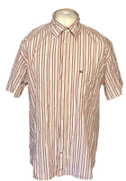 Men's Camel Active Casual Shirt Red White Striped S/S XL 100% Cotton