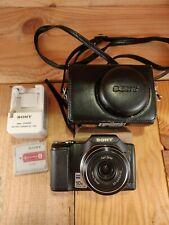 SONY CYBER-SHOT DSC-H20 10.1MP Digital Camera Black 2 Battery + Charger