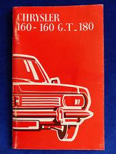 Chrysler 160 160 Gt 180 Prospekt 197? 153830 Ebay Motors