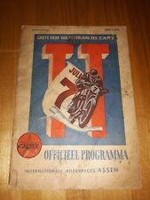 DUTCH TT ASSEN MOTORCYCLE PROGRAMME PROGRAMMA 7 JULY 1951 MOTORCYCLE RACING
