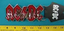 NEW AC/DC RED WITH WHITE FLAMES  BELT BUCKLE