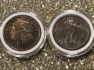 St Gaudens & Morgan Design Copper Ounces 2 oz Copper Total Toned