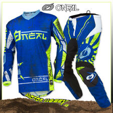 Completo Cross Enduro O'neal ONeal Element Zen Blue 2019 Taglia 32 M