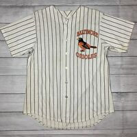Vintage Off The Bench Baltimore Orioles 90s Pinstriped Baseball Jersey XL