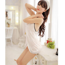 Pure Sexy lingerie Snow White nightdress Pajamas Sleepwear+G-String Lady