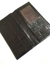 ORGANISER~RARE MULBERRY VINTAGE TRAVEL~ DOCUMENT WALLET-BLACK CROC PRINT LEATHER