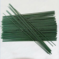 15pcs Green Floral Tape Iron Wire Artificial Flower Stub Stems Craft Decor 38cm