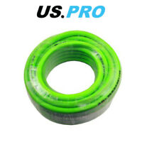US PRO Tools 8mm X 15 Meters HI VIS Green Hybrid Quick Release Air Hose 8175