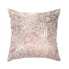 Rose Gold Copper Floral Mandala Cushion Covers Pillow Case Bedroom Home Decor