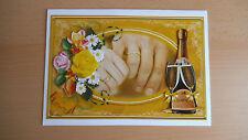 3D-Grusskarte in A5 °Hände & Rosen° Verlobung - alle Hochzeiten - edle Handabeit
