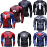 Men Marvel Superhero T Shirts Compression Sports Tee Spandex Long Sleeve Cosplay