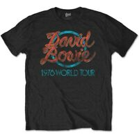 David Bowie 1978 World Tour Official Merchandise T-Shirt M/L/XL - Neu