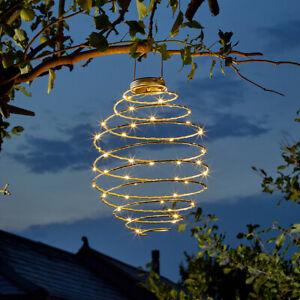 45cm XL Hanging Solar Beehive Spiral LED Lantern Light Garden Spiralite Outdoor
