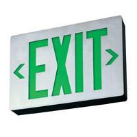 Lithonia Lighting Signature Die-Cast Aluminum Exit Sign LED Lamp Ni-Cad Battery